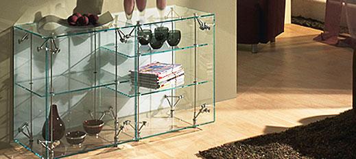 Möbelstücke aus Glas von Glas Eschbach